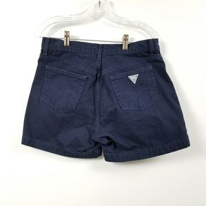 Vintage Guess Womens Jean Denim Shorts 30 Blue